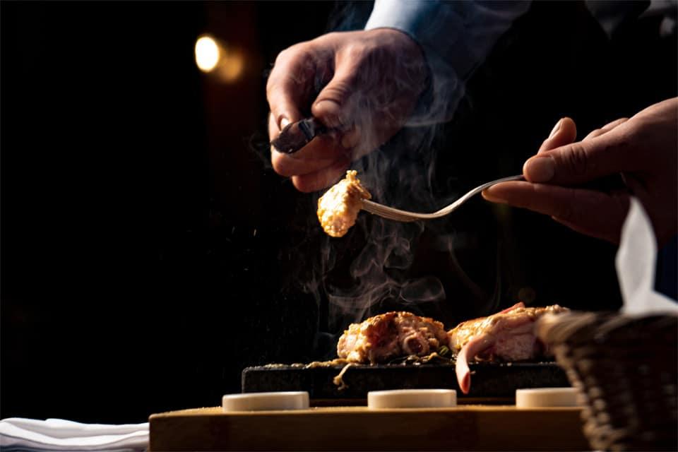 Cocina con brasas